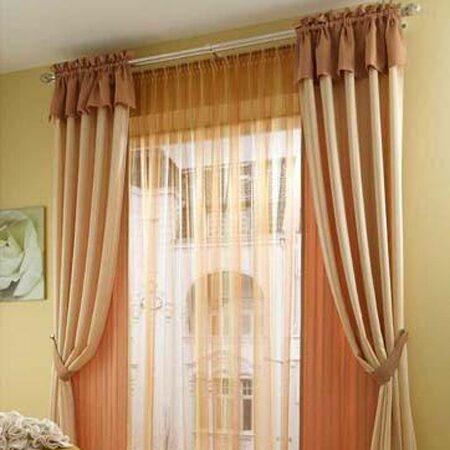 Фото персикового цвета шторы